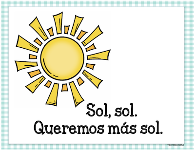 Line from Spanish spring poem for children.